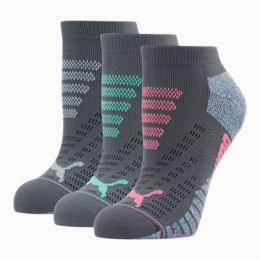 Women's 1/2 Terry Low Cut Socks [3 Pack], GREY / MULTI, small